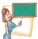 Teacher. Class teacher royalty free illustration