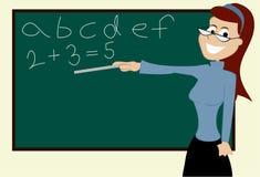 Teacher. Illustration of one school teacher Royalty Free Stock Images