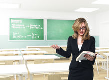 Teacher in action Royalty Free Stock Photo