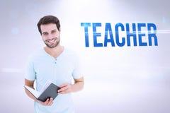 Teacher against grey background Stock Photo