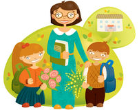 Teacher And Children Royalty Free Stock Photography