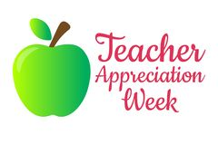 Teacher Appreciation Week. Holiday concept. Template for background, banner, card, poster with text inscription. Vector
