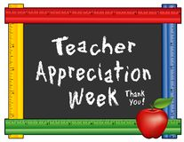 Teacher Appreciation Week, Ruler Frame, Apple