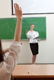 Teacher ask student Stock Photography