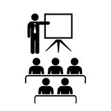 Teacher and audience vector icon royalty free illustration