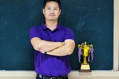 Teacher Award, Good model, Be a quality person. stock images