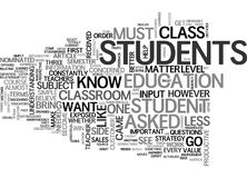 When The Teacher Becomes The Student Word Cloud Stock Image