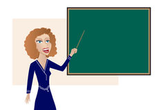 Teacher at the Blackboard Royalty Free Stock Image