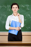Teacher at the blackboard Stock Photography
