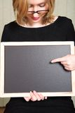 Teacher with blackboard royalty free stock image