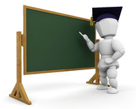 Teacher at blackboard Royalty Free Stock Photo