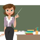 Teacher at the blackboard Royalty Free Stock Images