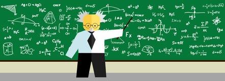 Teacher at blackboard Royalty Free Stock Images