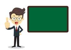 Teacher with Blackboard Stock Images