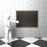 Teacher with blackboard Royalty Free Stock Photography
