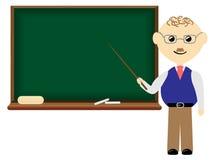 Teacher with blank board Stock Photo
