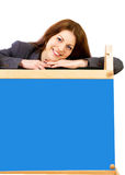 Teacher with board Royalty Free Stock Photo