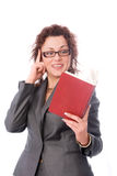 Teacher with a book Royalty Free Stock Images