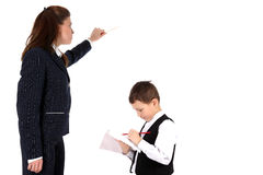 Teacher and boy Royalty Free Stock Photo