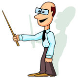 Teacher or businessman with pointer Royalty Free Stock Photo