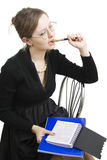 Teacher or Businesswoman a black dress. Stock Images
