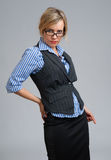 Teacher or businesswoman wearing glasses Stock Photography