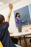 Teacher Calling On Student Royalty Free Stock Photo