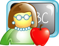 Teacher career icon or symbol Stock Images