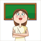 Teacher cartoon of back to school design Stock Photos