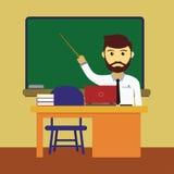 Teacher Cartoon Illustration Stock Images
