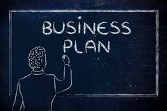 Teacher or ceo explaining about business plan Royalty Free Stock Photography