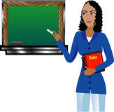 Teacher with Chalkboard Stock Photography