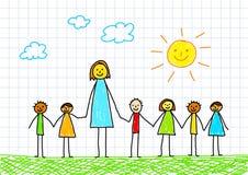 Teacher with children Stock Photo