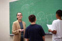Teacher and children Royalty Free Stock Photos