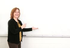 Teacher in class Royalty Free Stock Photos