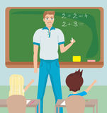 Teacher in Class Stock Images