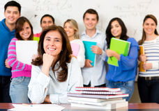 Teacher in a classroom Royalty Free Stock Photo