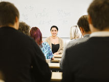 Teacher in classroom Royalty Free Stock Photography