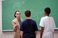 Teacher in the classroom Royalty Free Stock Images