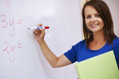 Teacher in the classroom Royalty Free Stock Photography