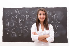 Teacher in the classroom Stock Photos