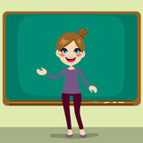 Teacher Classroom Blackboard Royalty Free Stock Images