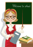 The Teacher. A teacher in the classroom on the first day of school Stock Photography