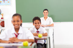Teacher classroom students Stock Photos
