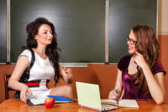 Teacher conducts private lesson with student. Stock Image