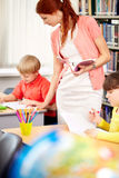 Teacher control royalty free stock images
