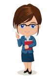 Teacher. Cute cartoon illustration of a teacher Royalty Free Stock Photos