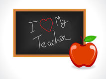 Teacher day greeting Stock Photos