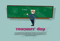 Teacher Day Holiday Senior Man School Class Board Royalty Free Stock Photo