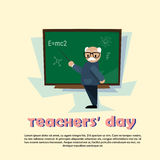 Teacher Day Holiday Senior Man School Class Board Royalty Free Stock Images